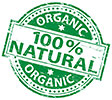 100% NATURAL ORGANIC (stock stamp)