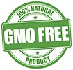GMO FREE - 100% NATURAL PRODUCT (stamp)