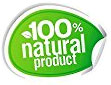 100% natural product (sticker)