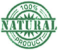 100% NATURAL (stock stamp)