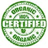 ORGANIC 100% CERTIFIED (stock stamp)