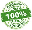100% ORGANIC PRODUCT (stamp)