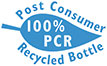 100% PCR (Post Consumer Recycled) Bottle