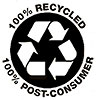 100% RECYCLED 100% POST-CONSUMER (paper)