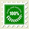 100% PURE AND NATURAL (postal mark)