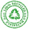 100% RECYCLED MATERIALS (stamp)
