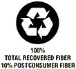 100% RECOVERED 10% POSTCONSUMER FIBER (paper)