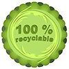 100% recyclable label