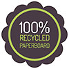 100% RECYCLED PAPERBOARD (seal, VectorOpenStock)