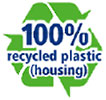 100% recycled plastic (housing, NL)