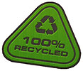 100% RECYCLED (triangular seal)