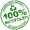 ENVIRONMENT FRIENDLY - 100% RECYCLED - NO HARM TO NATURE