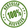 100% Recycled (stock seal stamp)