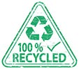 100% RECYCLED (triangle info)