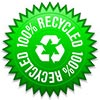 100% RECYCLED (twice, seal)