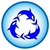 3 blue fishes (icon)