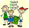 Reduce Reuse Recycle (kids smiling)
