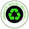 REDUCE - REUSE - RECYCLE (black-green stamp)