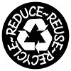 REDUCE REUSE RECYCLE (black'n'white seal)