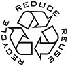 RECYCLE REDUCE REUSE (blank stamp)