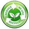 3R - REDUCE - RE-USE - RECYCLE (grow green)