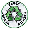 REDUCE REUSE RECYCLE (hand made sign)