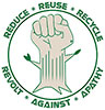 REDUCE REUSE RECYCLING - REVOLT AGAINST APATHY