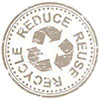 RECYCLE REDUCE REUSE (stock stamp, smoked)