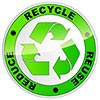 3R: REDUCE RECYCLE REUSE (stylish button)