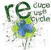 3 x re - REduce REuse REcycle (splash)