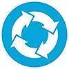 4 blue-white arrows (full circle)