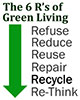 The 6 R's of Green Living: 