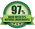 MADE WITH 97% NATURAL INGREDIENTS (stock)
