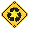 achtung - recycling first (road sign)