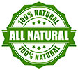 ALL 100% NATURAL (stock stamp)