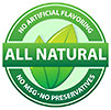 ALL NATURAL - NO ARTIFICIAL FLAVORING - NO MSG - 