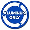 ALUMINIUM ONLY (white/blue 3 arrows circle)