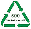 (battery recycling) 500 CHARGE CYCLES