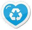 blue heart recycling