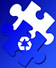 blue puzzle recycling