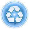 bluesky recycling button