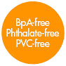BpA / Phthalate / PVC free (orange punkt)