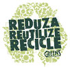 camiseta REDUZA REUTILIZE RECICLE (GREENS, ES)