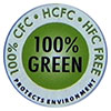 100% CFC HCFC HFC FREE - 100% GREEN - PROTECTS ENVIRONMENT