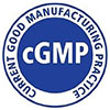 cGMP - Current Good Manufacturing Practice (logo, blue)