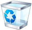 computer recycle (square transparent bin)
