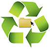 data folder recycling (icon)