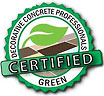 DECORATIVE CONCRETE PROFESSIONALS - CERTIFIED GREEN