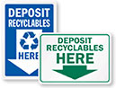 DEPOSIT RECYCLABLES HERE