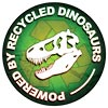 POWERED BY RECYCLED DINOSAURS (funny bumper-sticker, US)